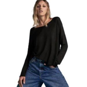 2/$20 Zara Basic Long Sleeve Lightweight Sweater M